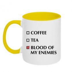 Кружка двоколірна 320ml Blood of my enemies