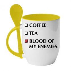 Кружка з керамічною ложкою Blood of my enemies