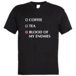 Чоловіча футболка з V-подібним вирізом Blood of my enemies