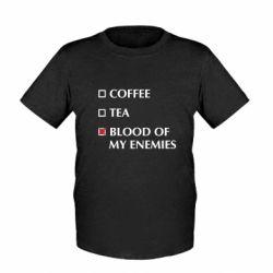 Дитяча футболка Blood of my enemies