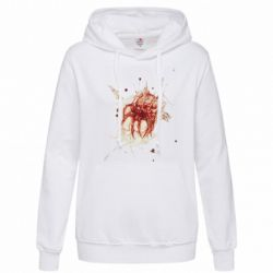 Толстовка жіноча Blood stain with skull silhouette