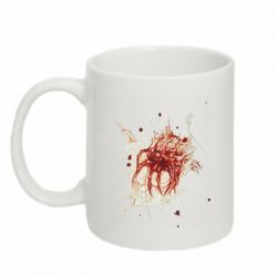 Кружка 320ml Blood stain with skull silhouette