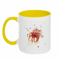 Кружка двоколірна 320ml Blood stain with skull silhouette
