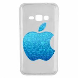 Чехол для Samsung J1 2016 Blue Apple