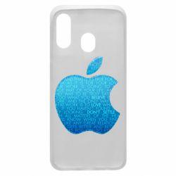 Чехол для Samsung A40 Blue Apple