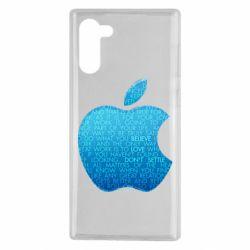 Чехол для Samsung Note 10 Blue Apple