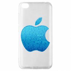 Чехол для Xiaomi Redmi Go Blue Apple