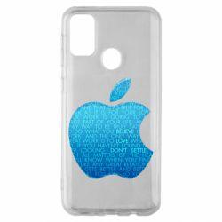 Чехол для Samsung M30s Blue Apple