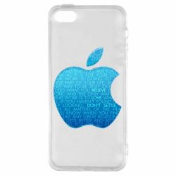 Чехол для iPhone5/5S/SE Blue Apple