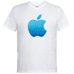 Мужская футболка  с V-образным вырезом Blue Apple - FatLine