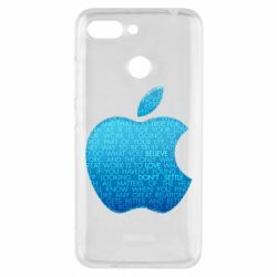 Чехол для Xiaomi Redmi 6 Blue Apple