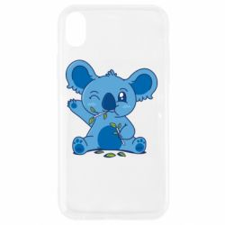 Чехол для iPhone XR Blue koala