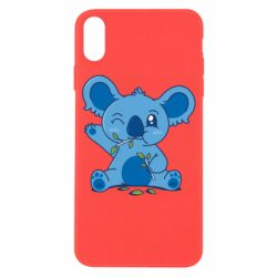 Чехол для iPhone X/Xs Blue koala