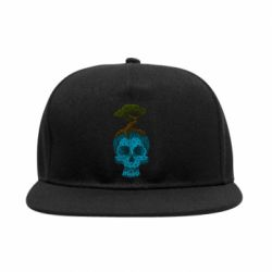 Снепбек Blue skull low poly and tree