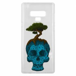 Чохол для Samsung Note 9 Blue skull low poly and tree