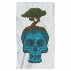 Рушник Blue skull low poly and tree
