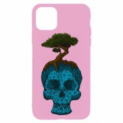 Чохол для iPhone 11 Pro Blue skull low poly and tree