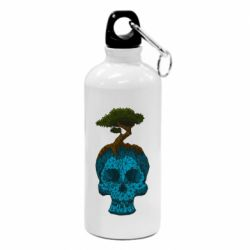 Фляга Blue skull low poly and tree