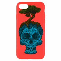 Чохол для iPhone 7 Blue skull low poly and tree