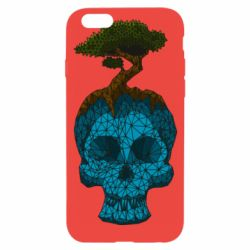 Чохол для iPhone 6/6S Blue skull low poly and tree