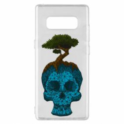 Чохол для Samsung Note 8 Blue skull low poly and tree