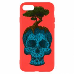 Чохол для iPhone 8 Blue skull low poly and tree
