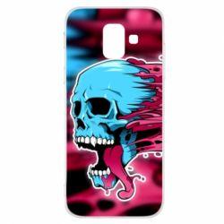 Купить Masha, Чехол для Samsung A6 2018 Blue skull, FatLine