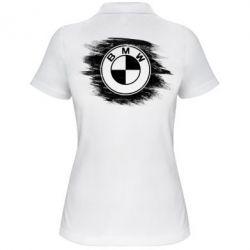 Купить Женская футболка поло БМВ арт, BMW art, FatLine