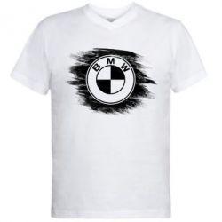 Купить Мужская футболка с V-образным вырезом БМВ арт, BMW art, FatLine