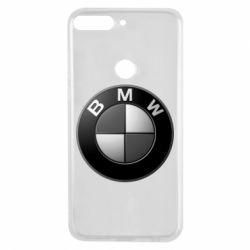 Чохол для Huawei Y7 Prime 2018 BMW Black & White - FatLine