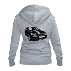 Женская толстовка на молнии BMW car