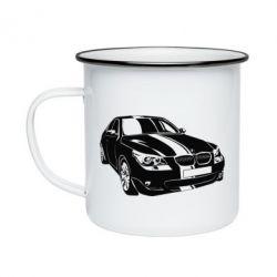 Кружка эмалированная BMW car