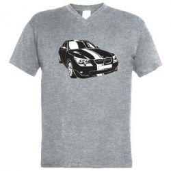 Купить Mastiks, Мужская футболка с V-образным вырезом BMW car, FatLine
