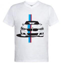 Мужская футболка  с V-образным вырезом BMW F30 - FatLine