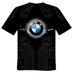 Мужская 3D футболка BMW flies the logo 087dfb82b53fe