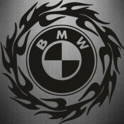 Наклейка BMW in the circle of fire