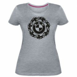 Жіноча стрейчева футболка BMW in the circle of fire