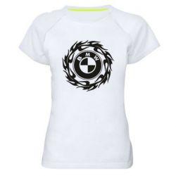 Жіноча спортивна футболка BMW in the circle of fire