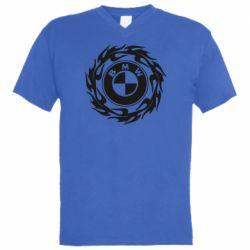Чоловіча футболка з V-подібним вирізом BMW in the circle of fire