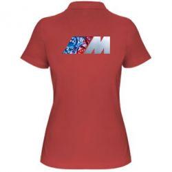 Женская футболка поло BMW logo 1