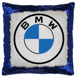 Подушка-хамелеон BMW logo 2020