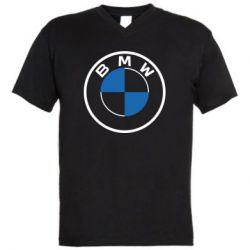 Чоловіча футболка з V-подібним вирізом BMW logo 2020