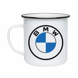 Кружка емальована BMW logo 2020