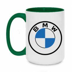 Кружка двоколірна 420ml BMW logo 2020