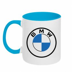 Кружка двоколірна 320ml BMW logo 2020