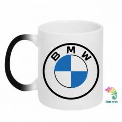 Кружка-хамелеон BMW logo 2020