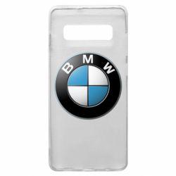 Чехол для Samsung S10+ BMW Logo 3D