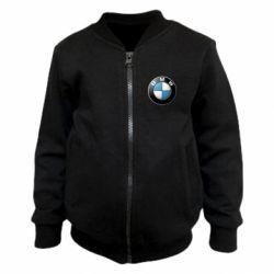 Детский бомбер BMW Logo 3D