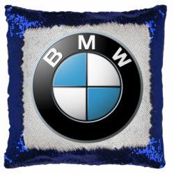 Подушка-хамелеон BMW Logo 3D
