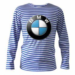 Тельняшка с длинным рукавом BMW Logo 3D - FatLine